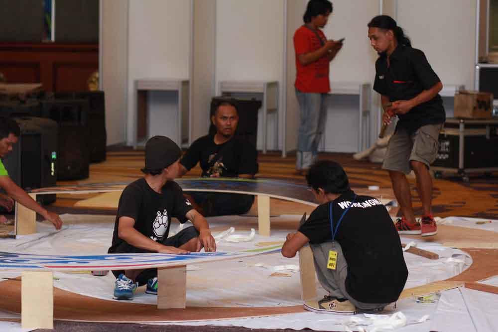 Pembuatan booth kongress pssi